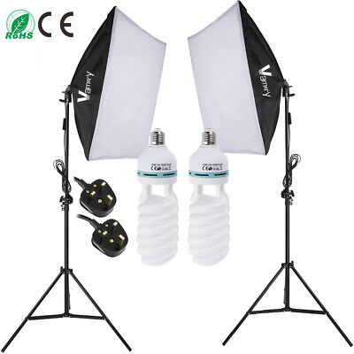 Photography Studio Softbox Lights 2m Light Stand Continuous Lighting Kit