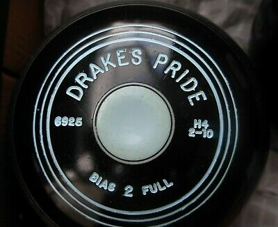 Drakes Pride Crown Green Bowls 2lb 10oz 2 Full Bias