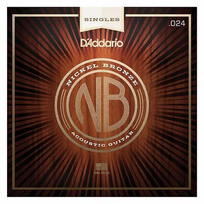 D'addario Single Acoustic Guitar String - Nb024 - Nickel Bronze Wound - .024