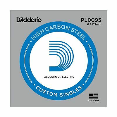 D'addario Single Guitar String - Pl0095 Plain Steel Ball End Acoustic & Electric