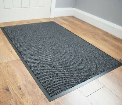 Grey Barrier Mat Indoor Heavy Duty Large Non Slip Kitchen Hall Runners Cheap Rug