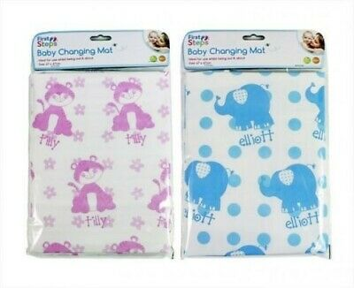 First Steps Baby Changing Travel Mat Home & Away Use-Folding - pink