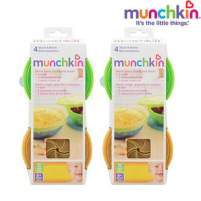 Munchkin 4 Pack Stack-A-Bowls