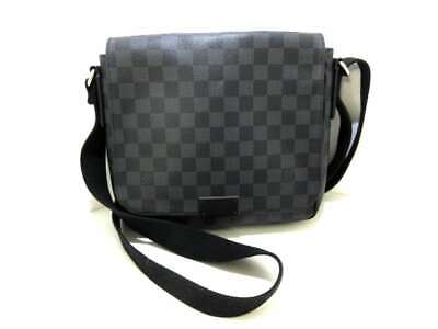 6275e5f0add9 Auth LOUIS VUITTON District PM N41260 Damier Graphite FL0155 Shoulder Bag