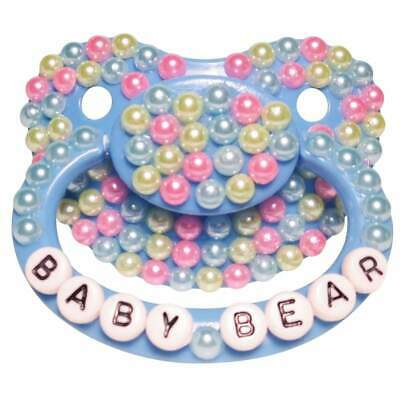 """Baby Bear Pacis Adult Pacifier /""""Angel/"""" Green Adult Paci DDLG//ABDL"""