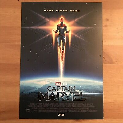CAPTAIN MARVEL Poster A4, *Minor Imperfections* Official Odeon Cinema Movie Film