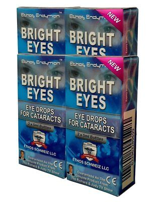 Cataract Eye Drops Ethos Bright Eyes Natural and Safe 4 Boxes 40ml