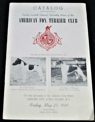 American Fox Terrier Dog Club Yearbook & Catalog 27 May 1949 Vintage Dogshow