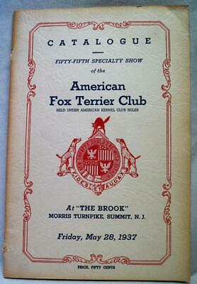 American Fox Terrier Dog Club Yearbook & Catalog 28 May 1937 Vintage Dogshow