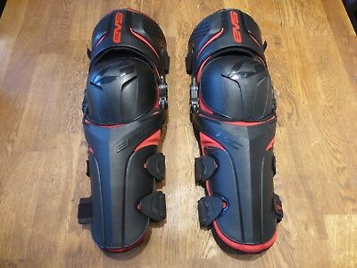 Genuine Evs Epic Adult Motocross Mx Knee Guards Size L/xl Black And Red