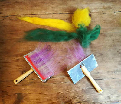 Hand Carder, Flick Carder Wool Carder Single or Pair - For Wool Felting Spinning