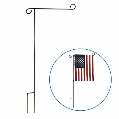 Garden Flag Pole Holder Up To 12 Inch Width Yard Stand For Easy Storage