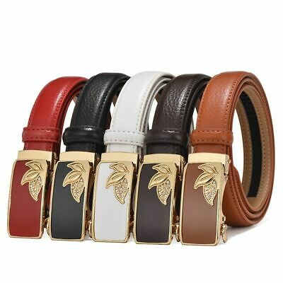 Women's Belts Genuine Leather High Quality Belt Women Straps Automatic Buckle