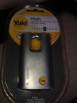 Yale 51mm Steel Padlock Closed Shackle Series Y210C/51