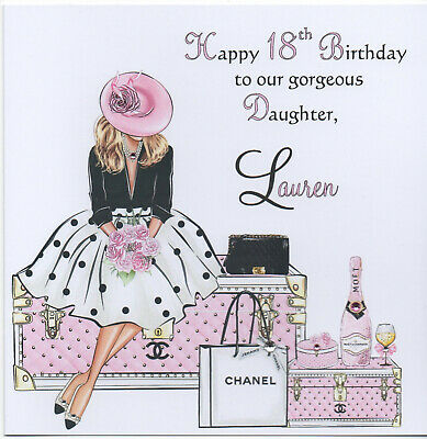 Handmade Personalised Birthday Card 16th 18th 21st Grand Daughter Sister Niece