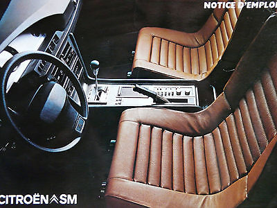 Notice d'emploi - Citroën SM Carbu