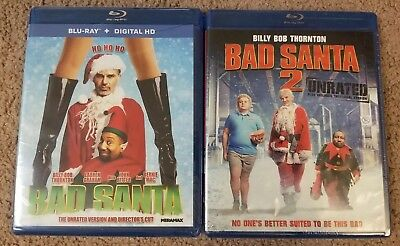 Bad Santa 1 & 2 Unrated & Theatrical Version Blu-ray + digital hd Both Brand new