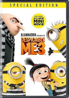 Despicable Me 3 (DVD, 2017) SHIPS IN 1 BUSINESS DAY W/TRACKING with SLIPCOVER