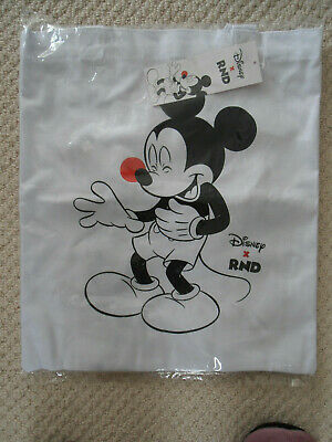 Comic Relief / Red Nose Day 2019 Disney Mickey Mouse Bag : White Cotton Tote NEW