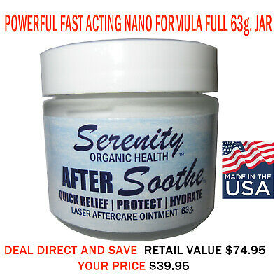 63g. Aftersoothe Numbing Waxing Cream Powerful Nano Lidocaine 2019 Formula