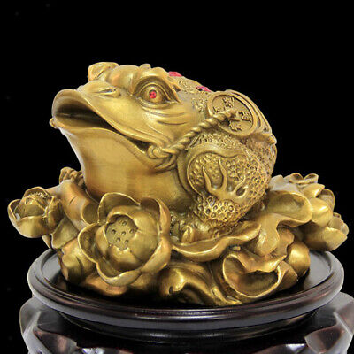 Oriental Fortune Decor Chinese Frog Coin Feng Shui Toad Money Lucky Mascot