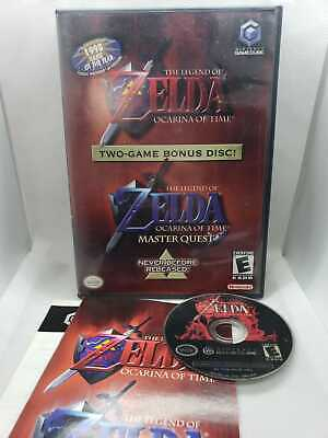 The Legend Of Zelda Ocarina Of Time Master Quest Gamecube COMPLETE WITH MANUAL