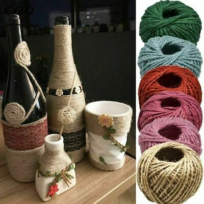 30 Meters Natural Burlap Hessian Jute Twine Cord Hemp Rope Gift Wrapping Thread