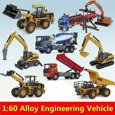Alloy Cars 1:60 Construction Vehicles Collection Truck Model Diecast Toy