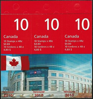 Canada Sc#1991b Flag over Canada Post Head Office, Booklet Bk251Aa, Mint-NH