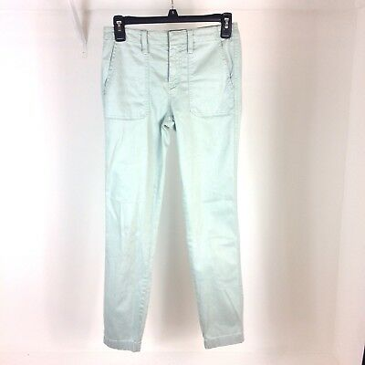 J. CREW Skinny Stretch Cargo Ankle Pants Women's Size 25 Light Blue Flat Front