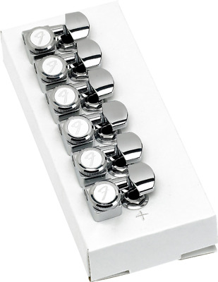 Genuine Fender Locking Tuners, 6 in line in Chrome, MPN 0990818100