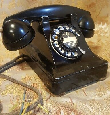 Vintage Western Electric Bell System F1 Black Rotary Dial Desk Telephone Phone