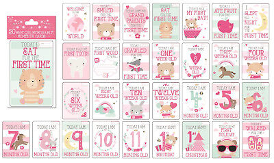 Baby Milestone Cards Pink Brand New In Sealed Packaging