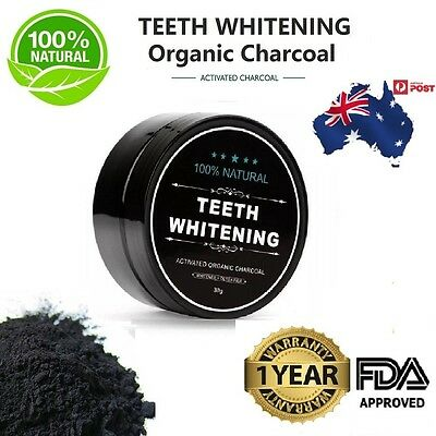 Activated Charcoal Teeth Whitening 100% Organic Coconut Shell Powder Carbon CoR*
