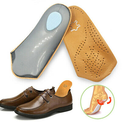Yellow Leather Half Insoles with Arch Support and Foot Cushion for Women