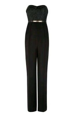 40f5f90d2bb TED BAKER Karlina textured bustier jumpsuit size 2 UK10 --BRAND NEW-- black
