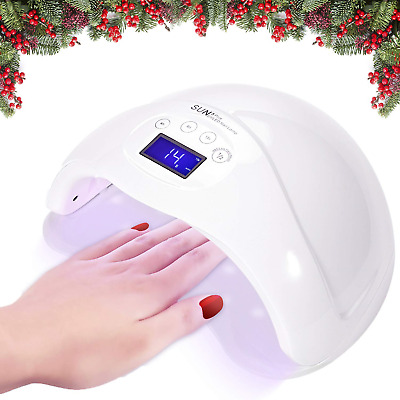 Joywell LED Nail Lamp, 48W LED UV Nail Dryer with LED Display and Timer for Nail