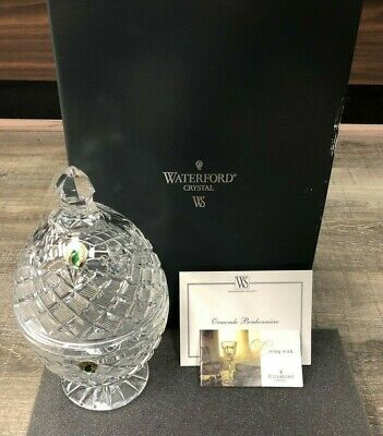 """Waterford Crystal ~  9.5"""" ORMONDE BONBONNIERE EGG ~NUMBERED LIMITED EDITION"""