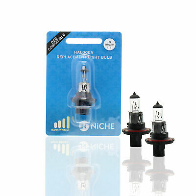 2 Pack H13 12V Halogen Headlight Bulbs with High & Low Beam for Polaris ATVs
