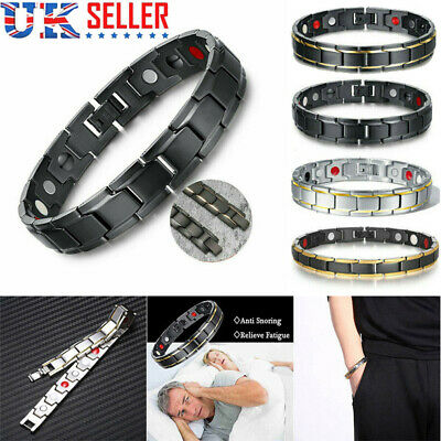 Therapeutic Energy Healing Bracelet Stainless Steel Magnetic Therapy Bracelet UK