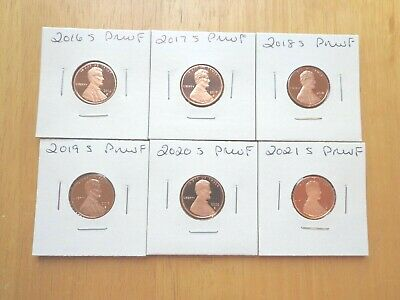 2016 S 2017 S 2018 S 2019 S Lincoln Proof Penny 4 Coin Set
