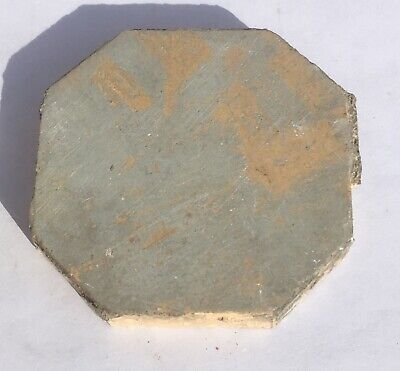 3x3 Antique Octagonal Tile in Antique Yellow -1 Piece- Salvaged-
