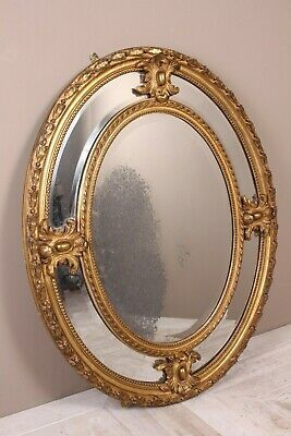 A Victorian Giltwood Oval Marginal Plate Mirror