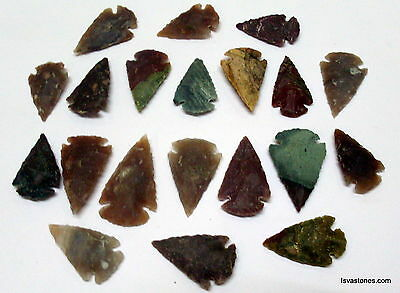 *** 35 pc lot flint arrowhead OH collection project spear points knife blade ***