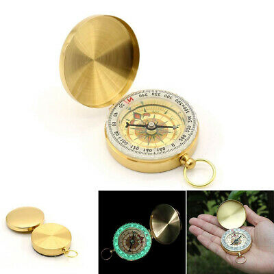 Outdoor Pocket Watch Retro Style Compass Camping Hiking Survival Tool Q4L3J