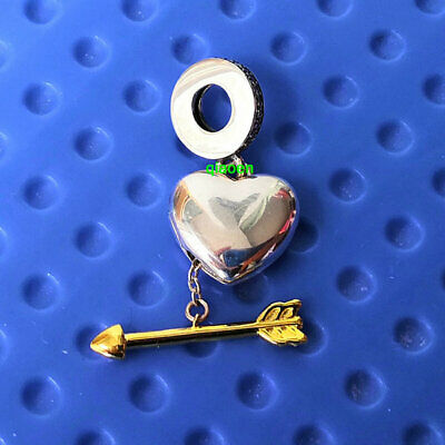 925 Sterling Silver Limited Edition Arrow of Love Clear CZ European Charm