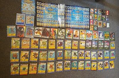 Various Digimon cards stickers etc including 35x 1999 Digimon card game cards