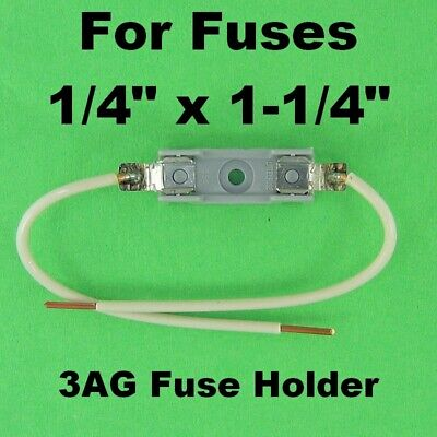 3AG Fuse Holder Block w Wire Leads 30A 120V AC Universal Inline Littlefuse 354