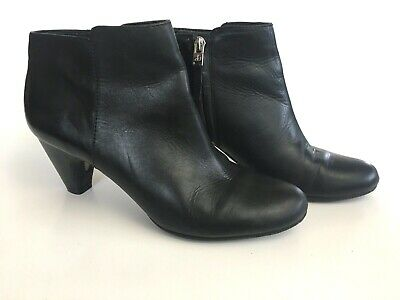 5ecd72ad5d6e SAM EDELMAN Meredith Womens Black Ankle Booties Size 7.5 M Leather Synthetic