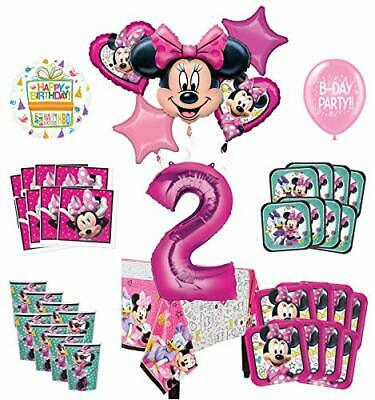 Mayflower Products Minnie Mouse And Friends 2nd Birthday Party Supplies 8 Guest